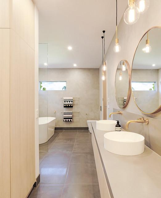 Brighton East Modern Bathroom Melbourne By Gia Bathroom Kitchen Renovations