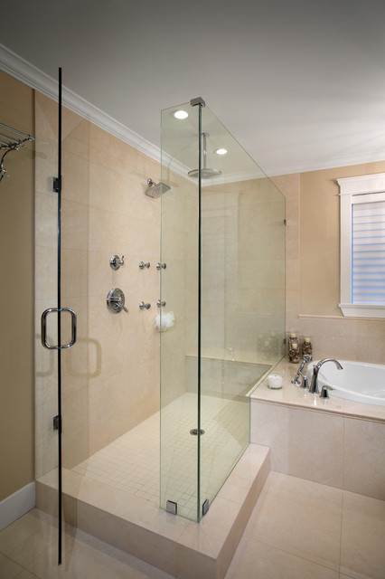 Brilliant Design in this Fully Custom Greater Vancouver Home traditional-bathroom