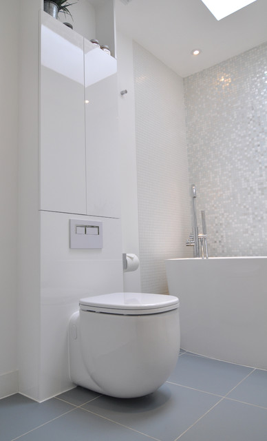 Brilliant white bathroom contemporary bathroom