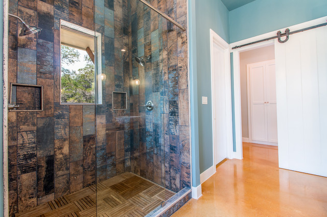 Bathroom - rustic bathroom idea in Austin