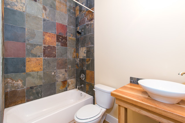 Example of a mountain style bathroom design in Austin