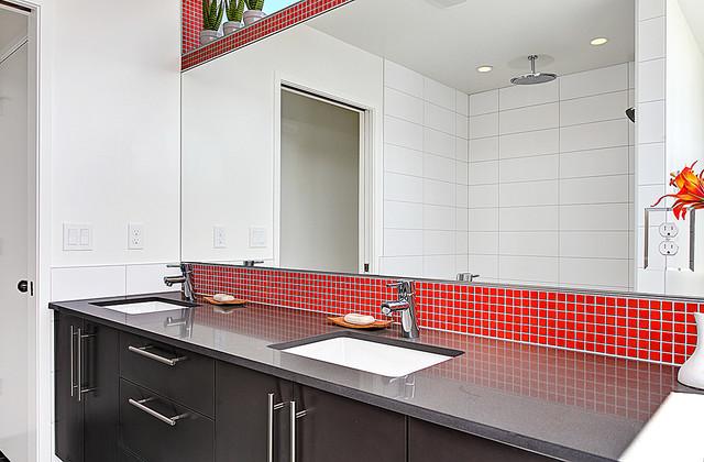 Brio Mosaic Installations Modern Bathroom By