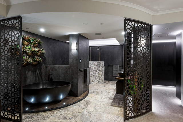 Brisbane Sky Home contemporary-bathroom