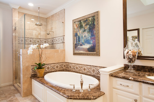 British colonial traditional bathroom houston by for Colonial style bathroom vanities
