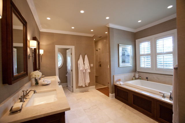 British colonial master suite traditional bathroom charlotte by loftus design llc Bathroom design in master bedroom