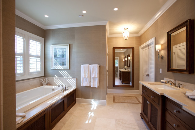 Excellent British Colonial Master Suite Traditional Bathroom Charlotte Largest Home Design Picture Inspirations Pitcheantrous