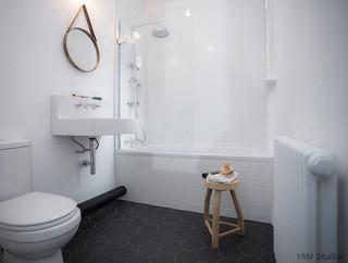 Brixton pad scandinave salle de bain londres par - Incollare su piastrelle bagno ...