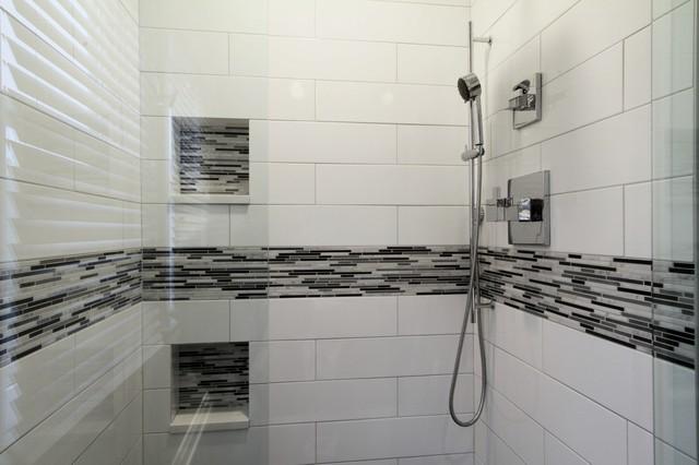 Brizo Siderna Master Shower With Handshower Contemporary Bathroom