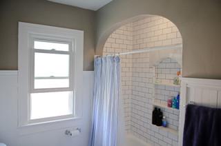 Broad Ripple Bungalow Bathroom - Midcentury - Bathroom - indianapolis - by Jensen Tile