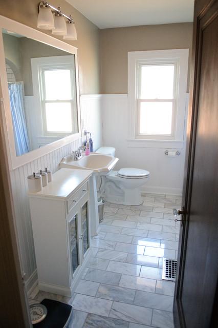 Broad Ripple Bungalow Bathroom Midcentury Bathroom