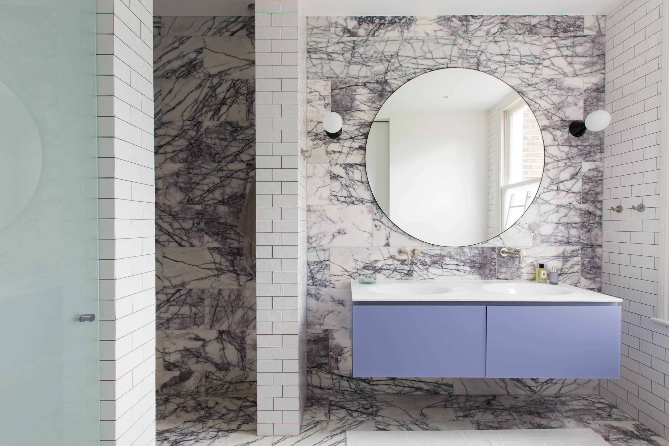 75 Beautiful Purple Marble Floor Bathroom Pictures Ideas December 2020 Houzz
