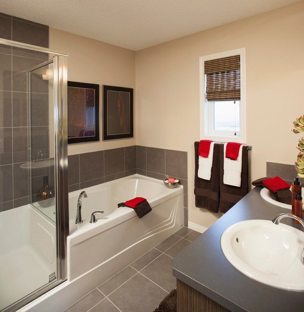 Brookfield Residential - Cranston Side-by-Side - Sequoia Showhome contemporary-bathroom