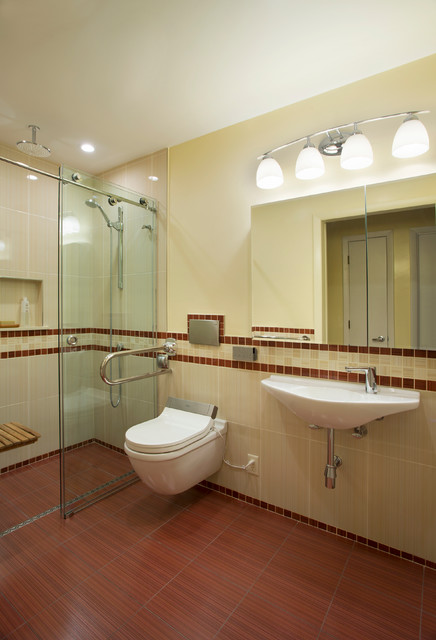 Brookline ma universal design bathroom contemporary
