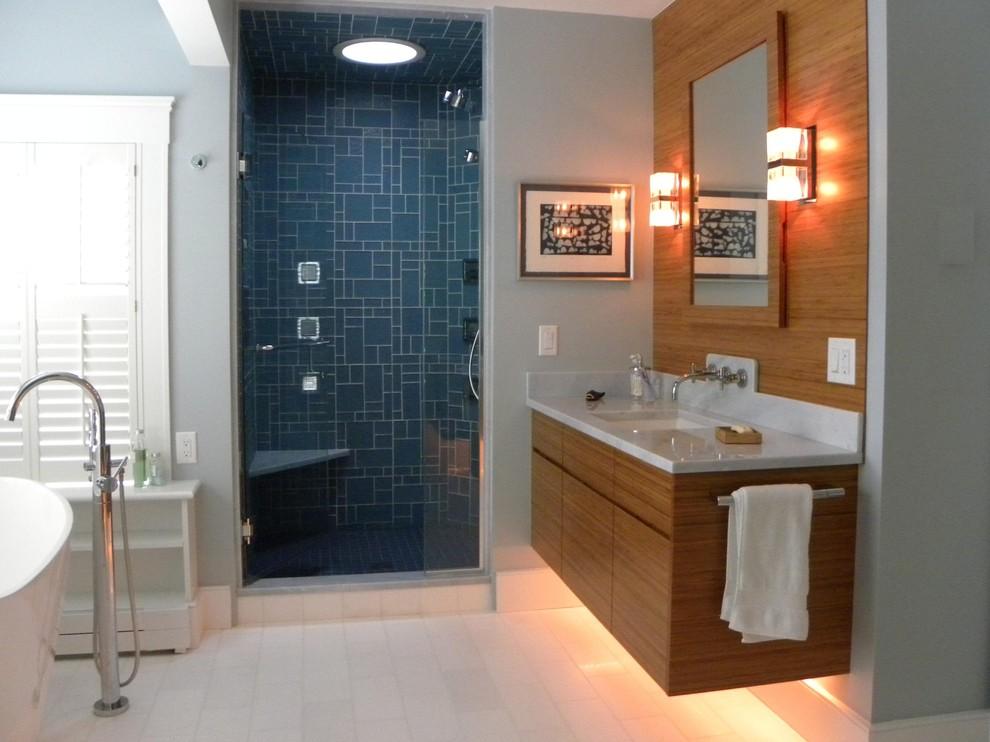 Bathroom - contemporary bathroom idea in Boston
