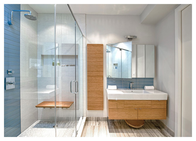 Brooklyn Brownstone Ny Modern Bathroom New York By Complete Tile Collection