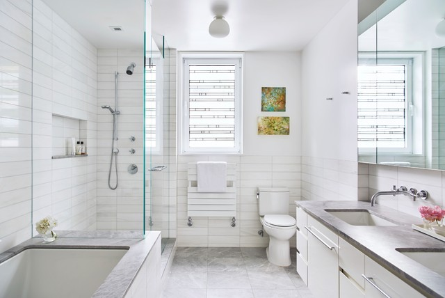 Brooklyn Heights Carriage House - Contemporary - Bathroom ...
