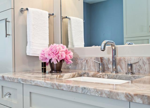 Brown Fantasy Ocean Beige Granite Countertop Traditional Bathroom Bridgeport By Kitchen