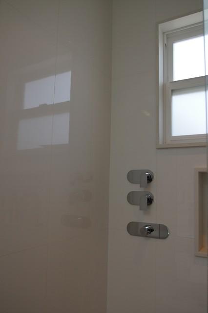 Brown Master Bathroom modern-bathroom