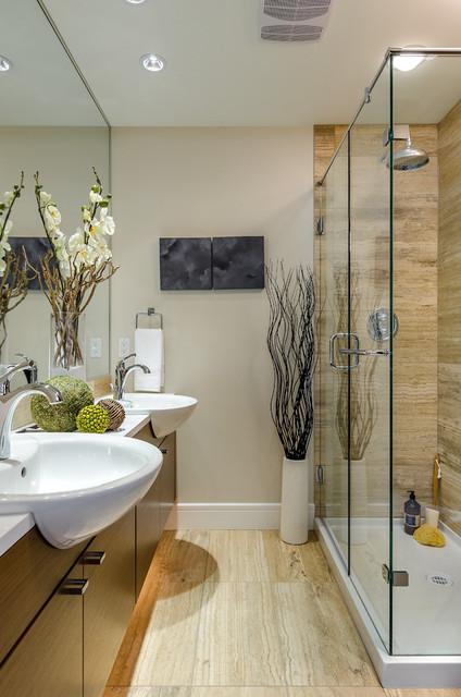 Brownstone contemporary-bathroom
