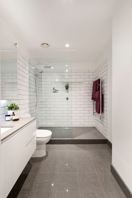 Brunswick bathroom renovation modern bathroom melbourne by the inside project Small bathroom design melbourne