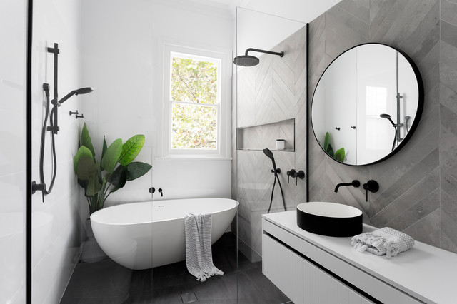 Brunswick East - Bathroom, En suite & Kitchen contemporary-bathroom