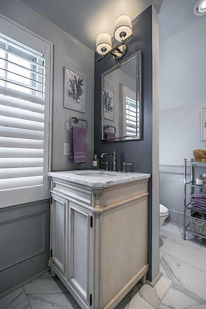 Bryn Mawr tiny Bathroom - Kallista Vanity