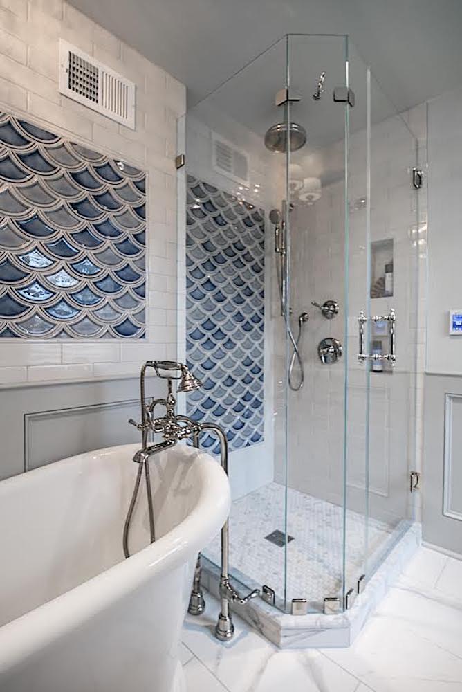 Bryn Mawr Tiny Bathroom - shower