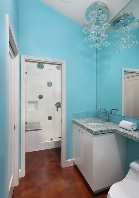Contemporary Pool house bathroom contemporary-bathroom