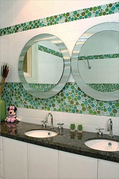 Lovely Bubble Glass Bathroom Modern Bathroom