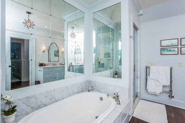 卫生间白色细节美式风格装修设计图片