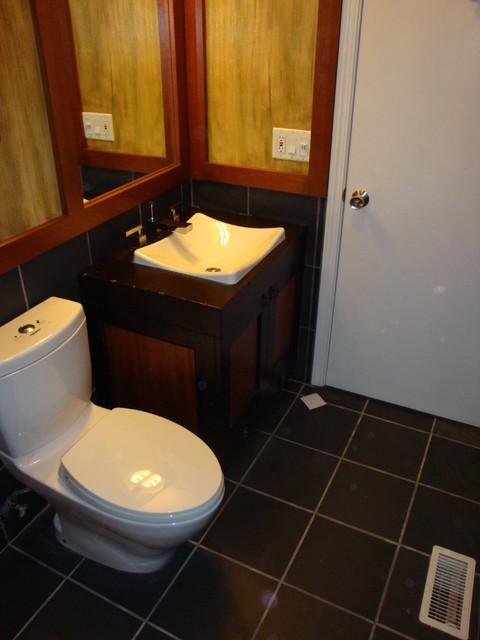 Bucktown Couple's Guest Bath asian-bathroom