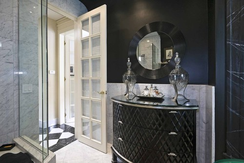 modern bathroom Black and White Home Decor