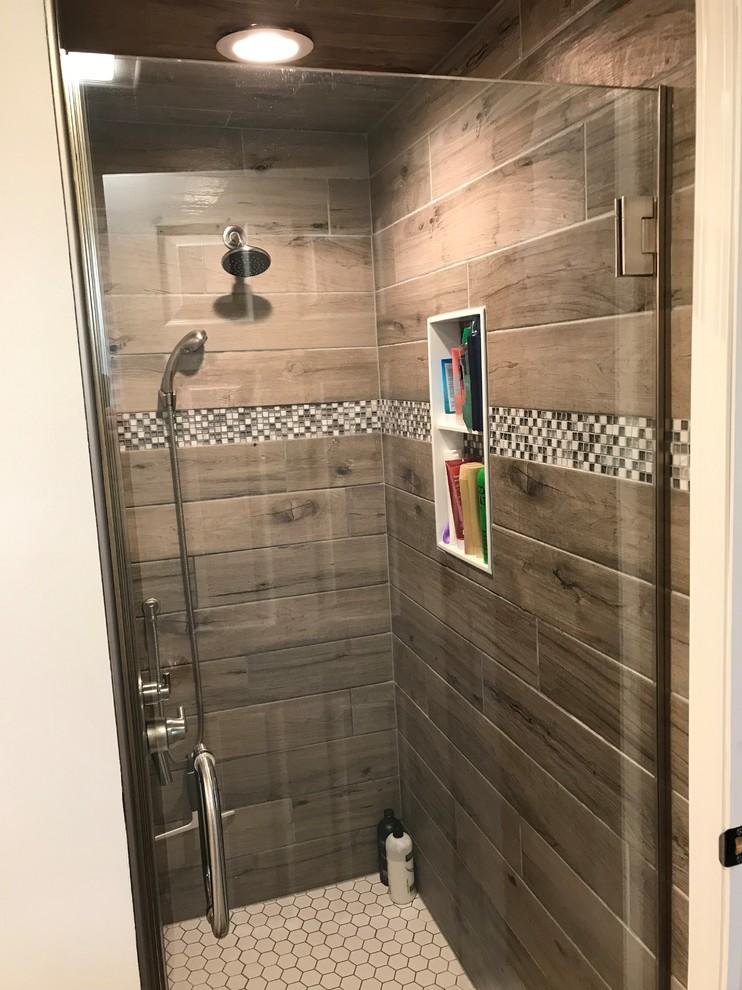 Buffalo Wood Look Tile Bathroom Contemporary Bathroom New York By New York Kitchen Bath Houzz