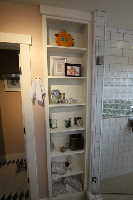 Built in cabinets traditional bathroom