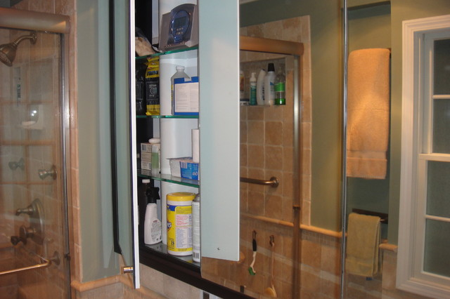 Built in medicine cabinet contemporary bathroom chicago - Built in medicine cabinets in bathroom ...