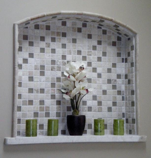 Built - in - niche traditional-bathroom