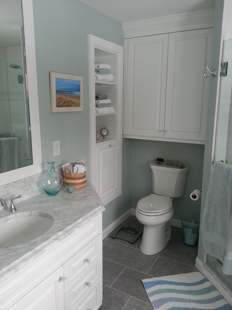 Built In Shelving And Wall Cabinet Traditional Bathroom Bridgeport By Kitchen Bath Design Construction