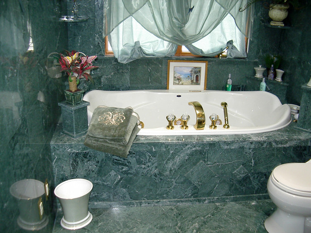 Built In Tub Traditional Bathroom New York By Stone Art Design Home Design Center Llc