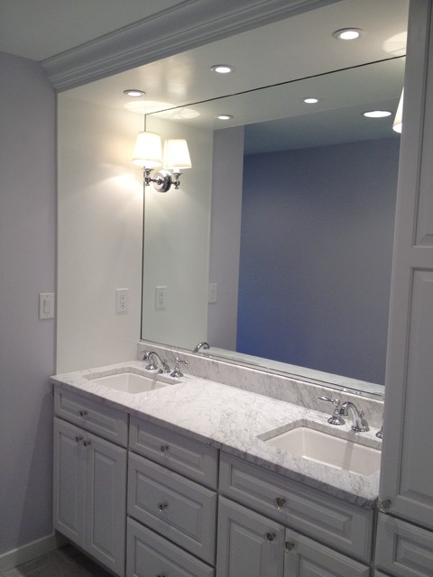 Built-in vanity, white cabinets - Traditional - Bathroom - philadelphia - by Blue Tree Builders, LLC