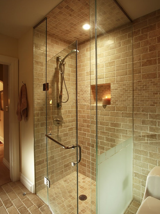 Eclectic Curbless Shower Bathroom Design Ideas Pictures Remodel Decor