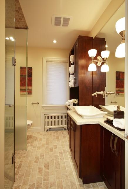 Bungalow Bath Renovation Eclectic Bathroom Toronto