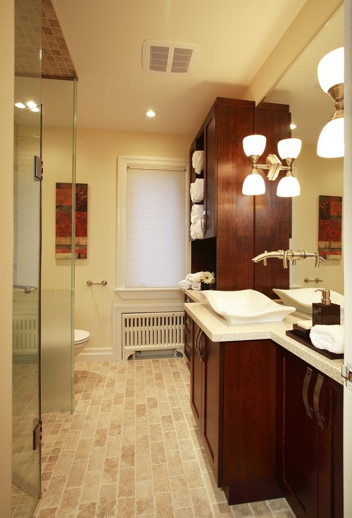 Bungalow Bath Renovation eclectic bathroom