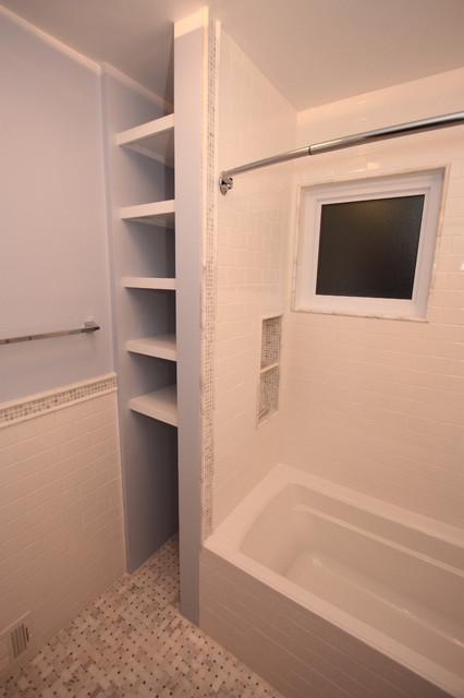 Bungalow bathroom in lace traditional bathroom chicago by design build 4u chicago - Bathroom design chicago ...