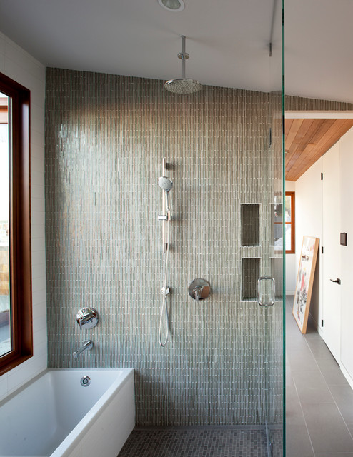 Bungalow update modern bathroom san francisco by - Modern bath and shower combo ...