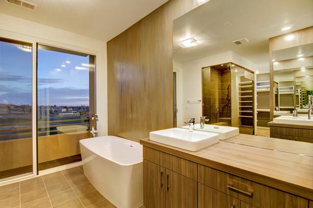 Burgundy Way Contemporary Bathroom Albuquerque By Eric Spurlock Custom Home Design Llc