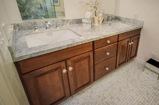 Burlingame Cherry Vanity - Bathroom - by KB Cabinets