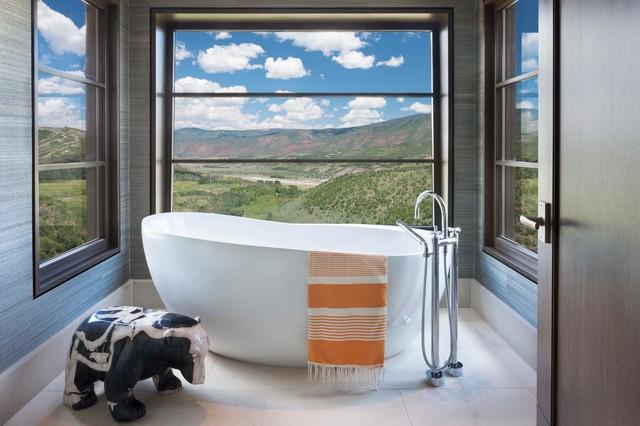 Buttermilk contemporary-bathroom