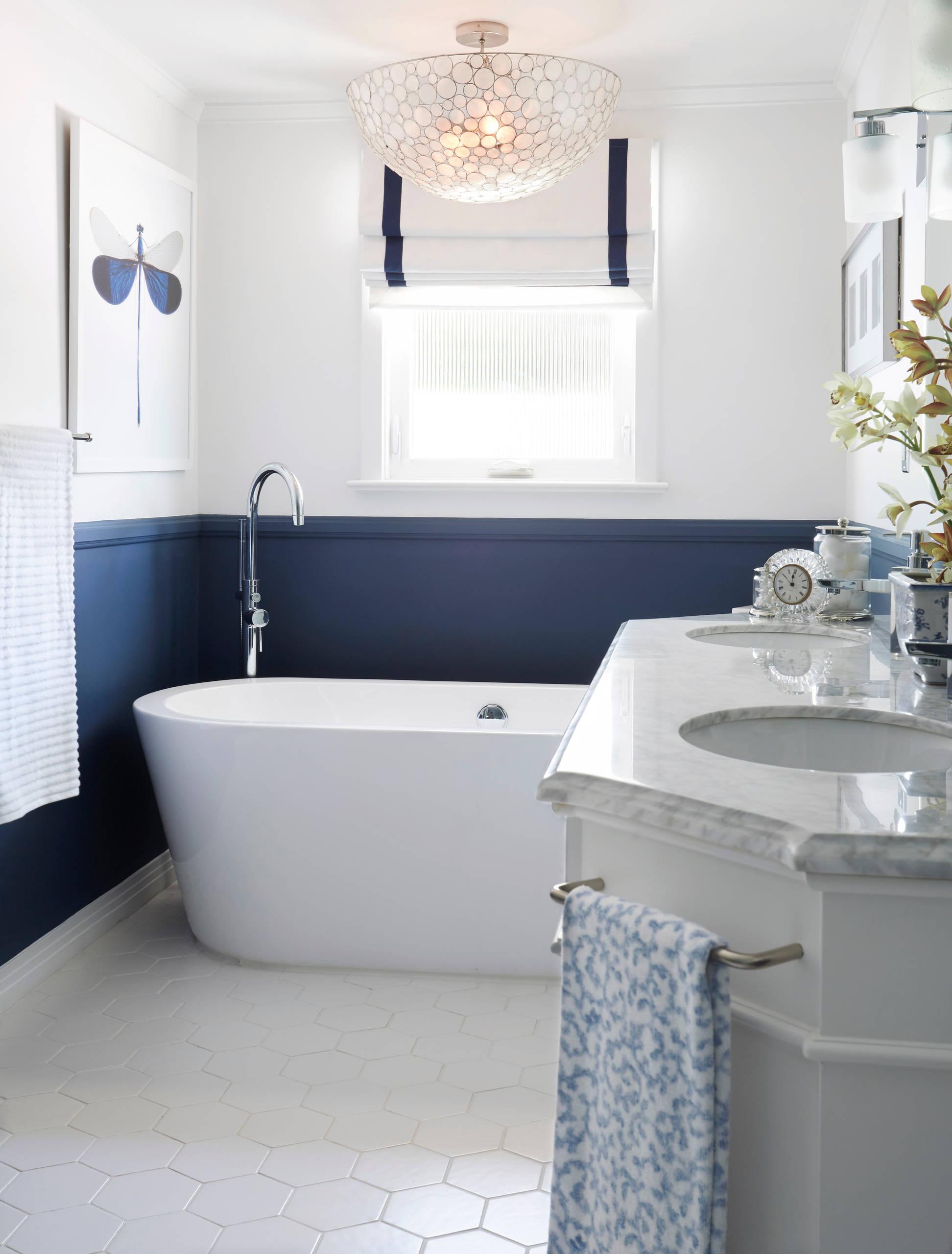 Navy And White Bathroom Ideas Houzz