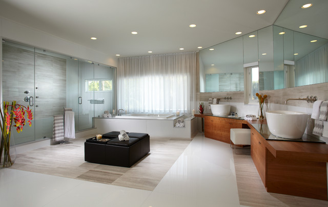 Pinecrest Home Interior Design Top Decorators Contemporary Bathroom
