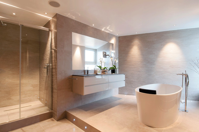 C P Hart Case Study Berglan Court Contemporary Bathroom London By C P Hart Bathrooms